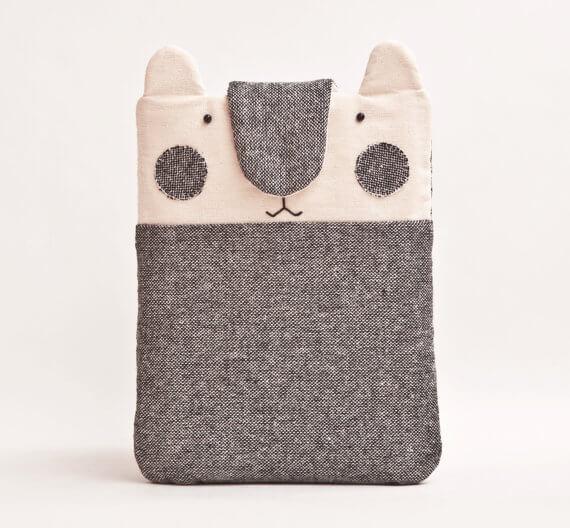 Handgenähte Tablet Hülle – Bärchen mit Ohren