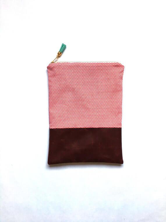 iPad Sleeves aus Kunstleder und Stoffen – rot braun