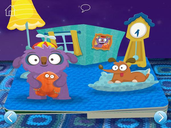 Vertäumte Gute-Nacht-App für Kleinkinder