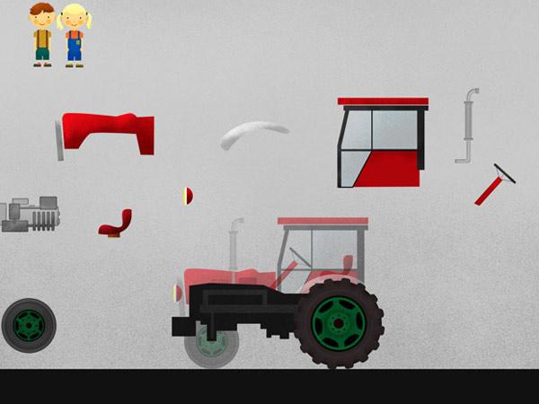 Minigame App mit Bauernhof Tieren für Kleinkinder