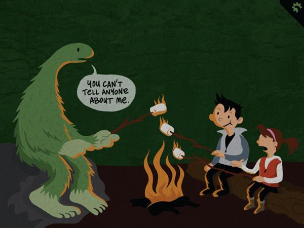 Englische Kinderbuch App über Monster für ältere Kinder