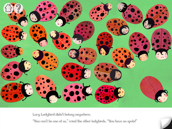 Kinderbuch-App für ältere Kinder übers Anders-Sein, Farben und Jahreszeiten