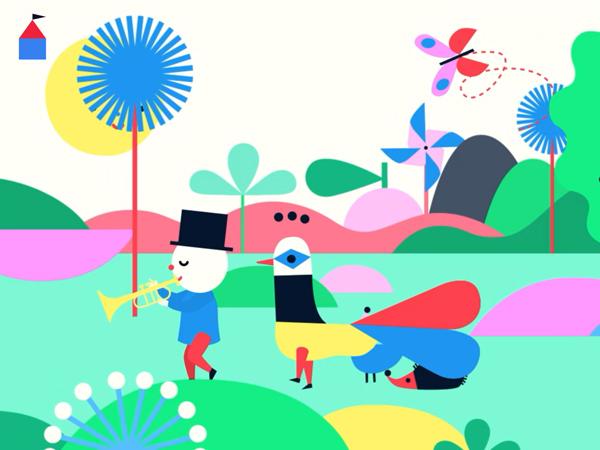 Kinder-App die Kindern die Welt der Musik zeigt