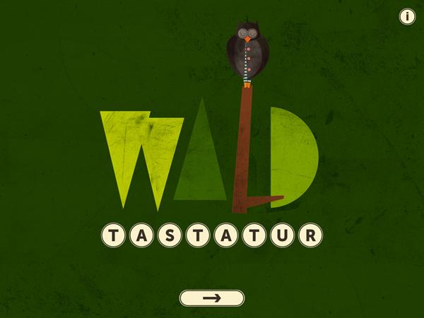 Wald Tastatur: schöne ABC Lern App mit Wimmelbuch-Charakter