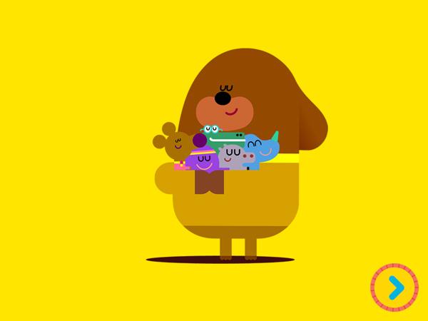 Coole Hey Duggee App für Kleinkinder mit bekannten Cartoon Figuren