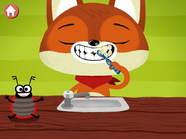 Kinderapp zum Zähneputzen für Kleinkinder