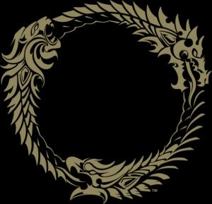 """O logo de um outro MMO, o """"The Elder Scrolls Online"""" da Bethesda, faz referencia ao simbolo de Oroboros, integrando nele as chancelas das suas três facções."""