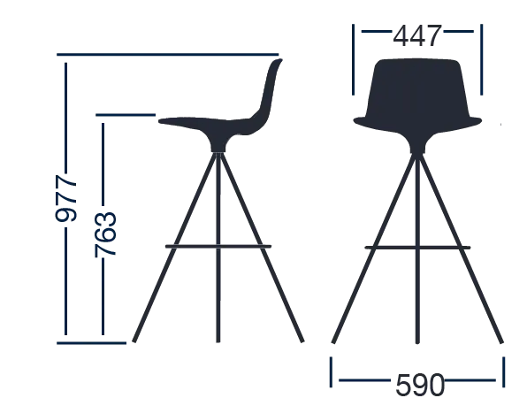 chair stool with back pvc lounge chairs lottus – enea