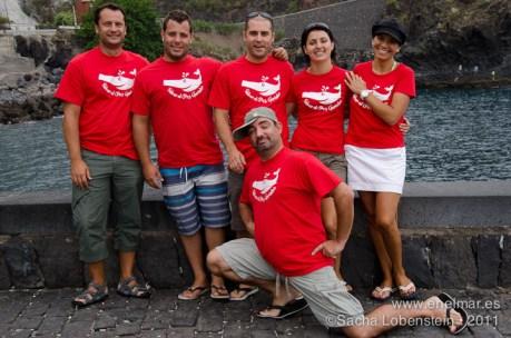 20110815 1045 - Angelote (Squatina squatina), Chari, Garachico, Isra, Mundi, Niva, Román, Sacha, Buceadores