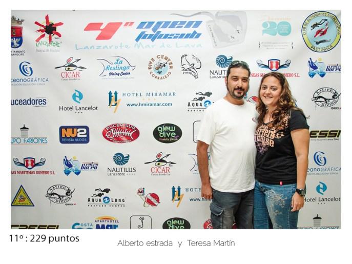 11º - 229 puntos:Alberto Estrada y Teresa Martin