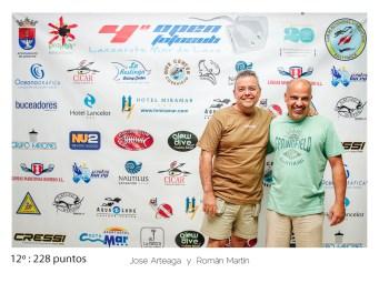 12º - 228 puntos:Jose Arteaga y Román Martín