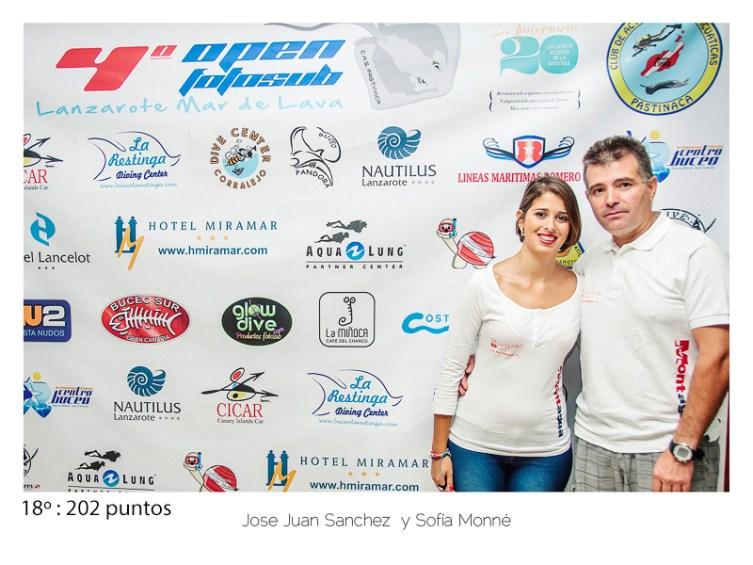 18º - 202 puntos:Juan Jose Sanchez y Sodía Monné