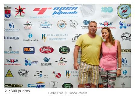 2º - 300 puntos: Eladio Frias y Joana Pereira