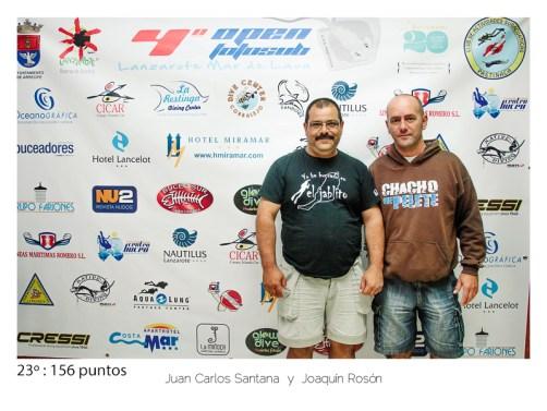 23º - 156 puntos:Juan Carlos Santana y Joaquin Ramos