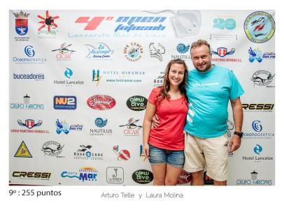 9º - 255 puntos:Arturo Telle y Laura Molina