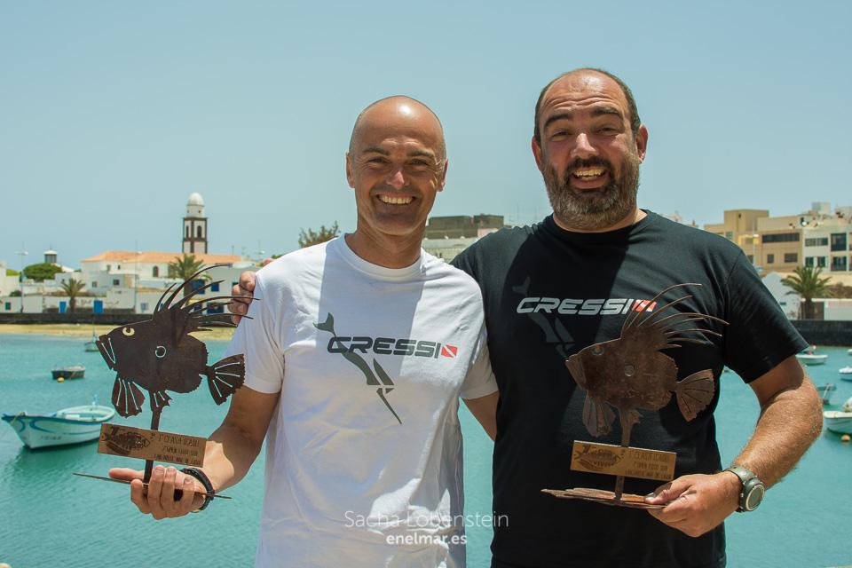 """Campeones del 7º Open Fotosub Lanzarote """"Mar de Lava"""", 2016"""