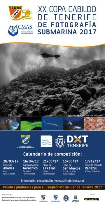 Calendario Competición XX Copa Cabildo de Tenerife Fotosub 2017