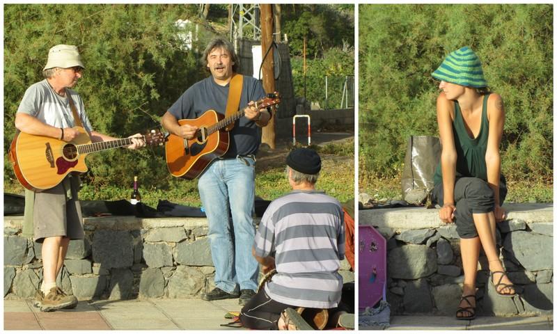 Gitarrspelande karlar i Valle Gran Rey