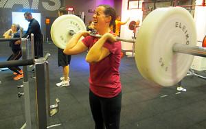 Emilia tränar med stång - inlägg om gym och motivation