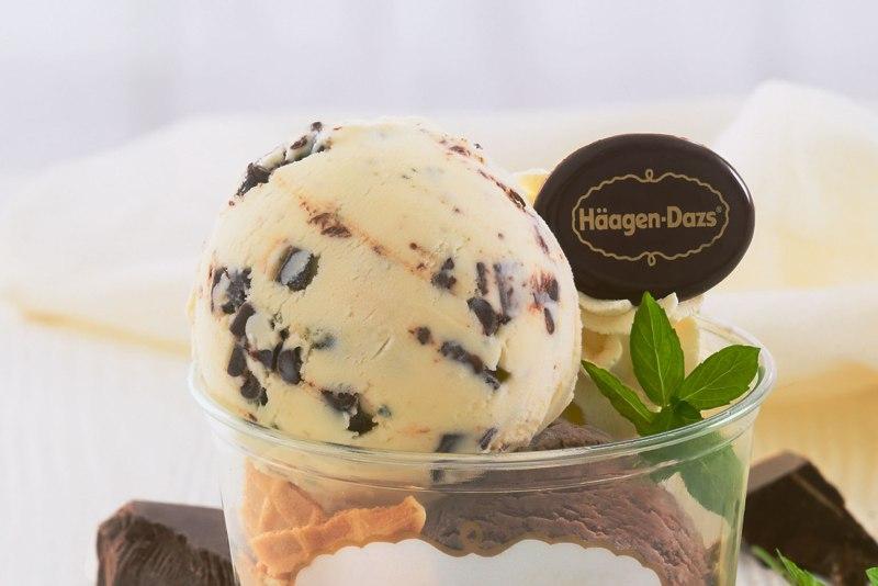 Bild På Häagens Dazs - ett inlägg om att sluta shoppa med vissa undantag: glass