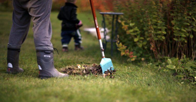 bild på trädgård och stövlar. Inlägg om utmattning