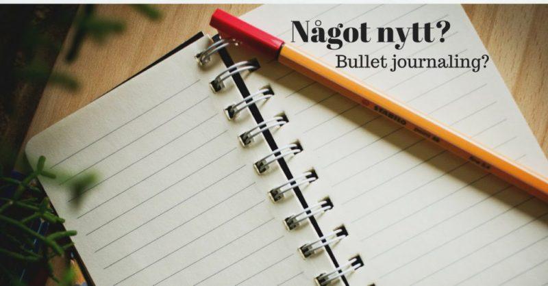 bullet journaling göra något nytt