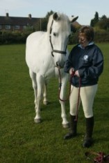 Jan Moore and Andalusian gelding Mill Devoto