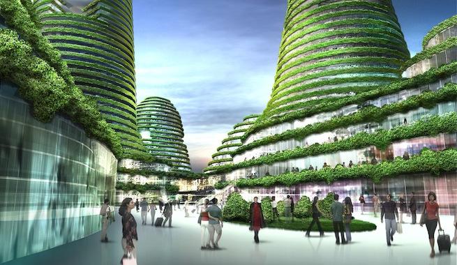 Futuras ciudades ecológicas no contaminantes
