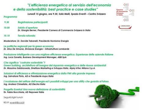 """Convegno """"L'efficienza energetica al servizio dell'economia e della sostenibilità: best practice e case studies"""""""