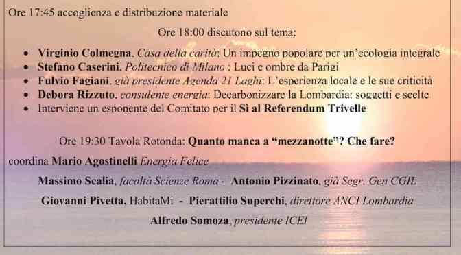 """Documenti del convegno """"Laudato si' e Cop21"""""""