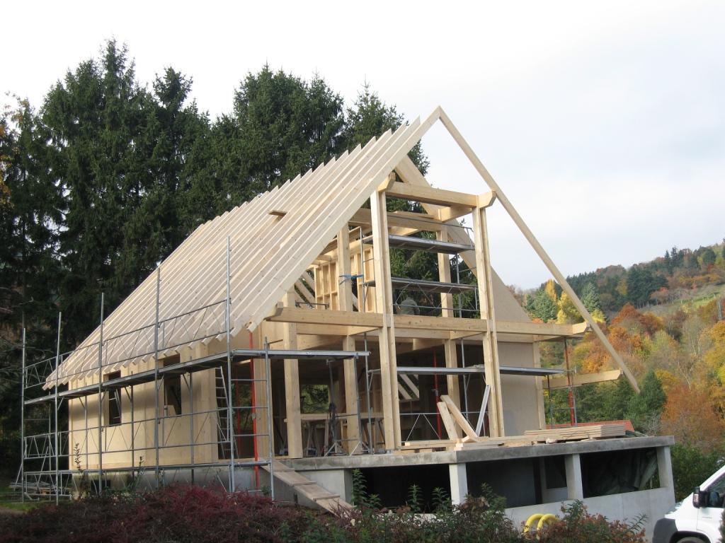 plan maison bois massif