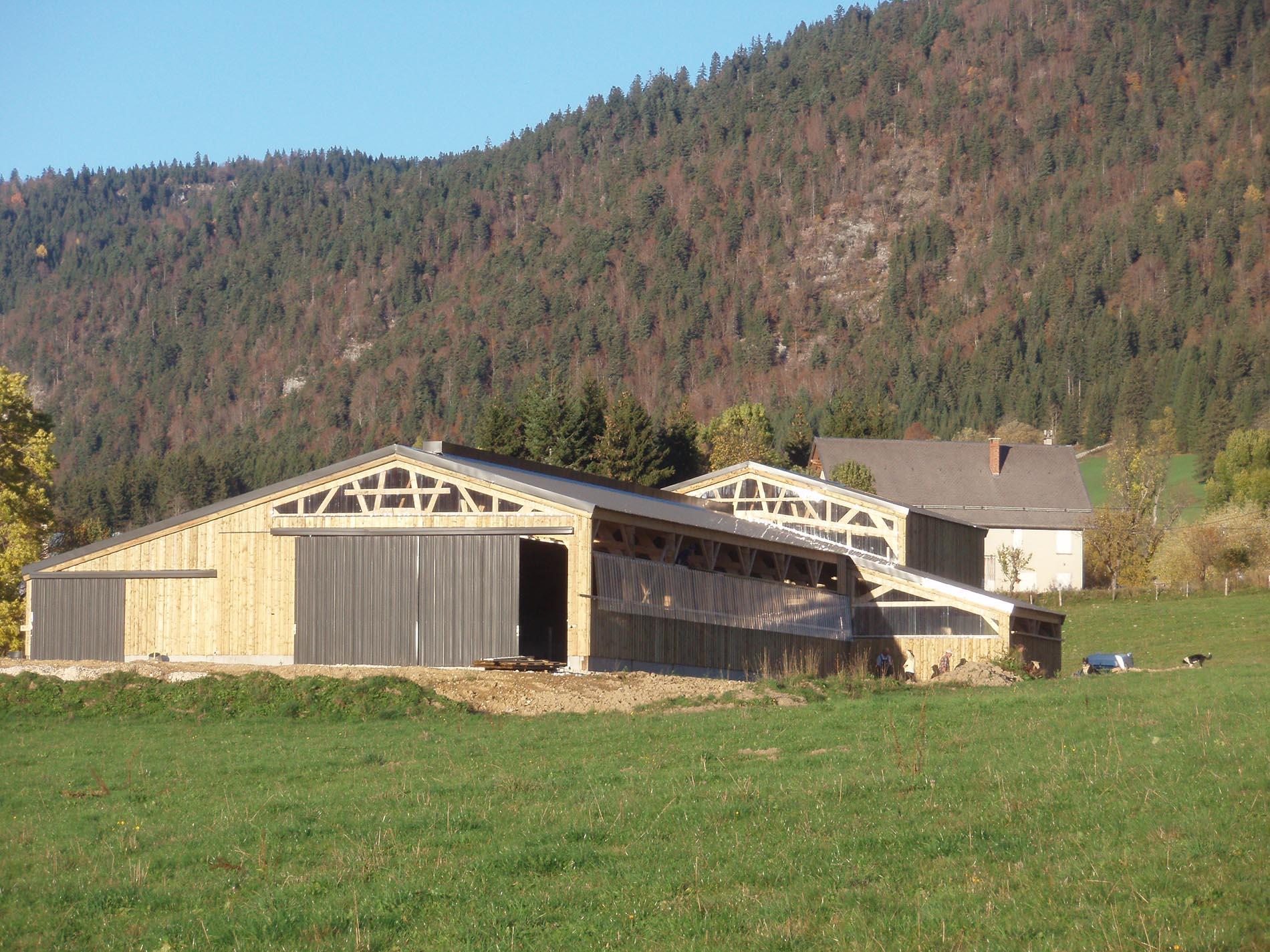 batiment agricole bois kit