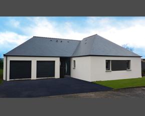plan de maison en bois avec garage