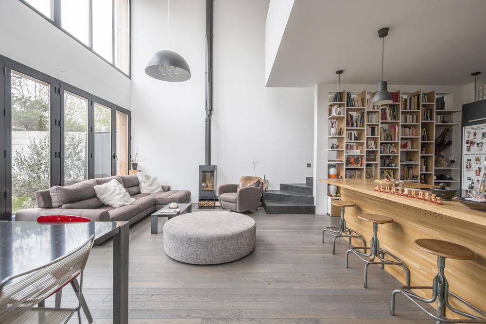 plan maison bardage bois