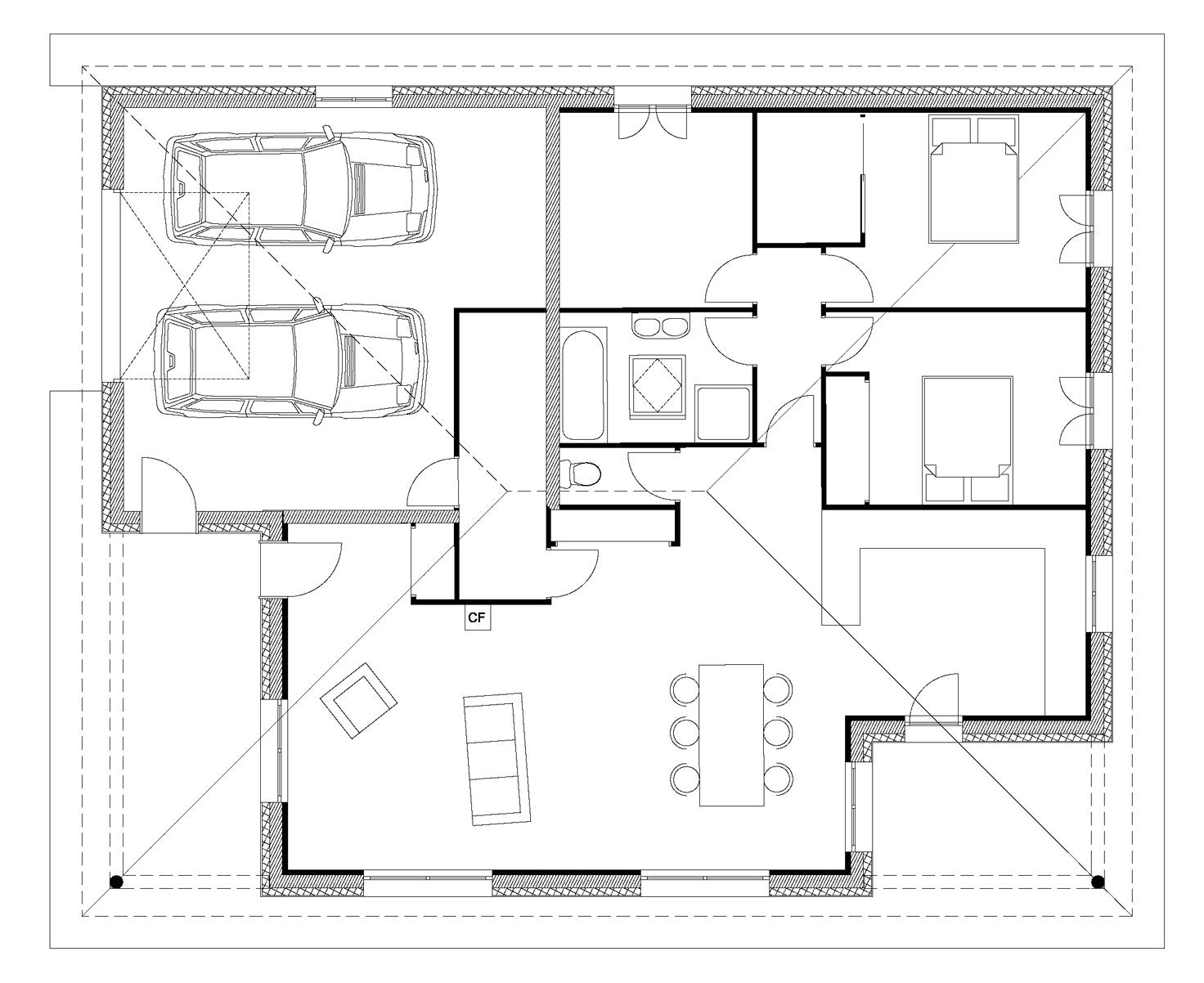 plan maison bois architecte