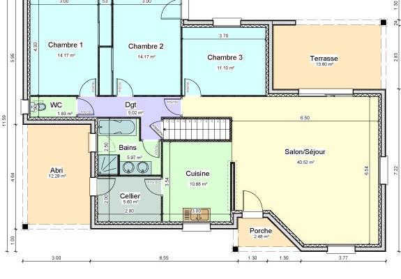 plan maison bois mezzanine