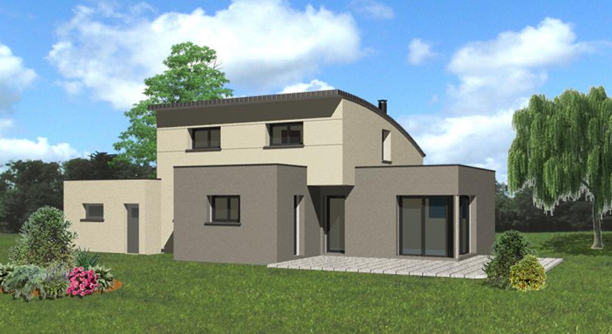 plan maison bois toit monopente