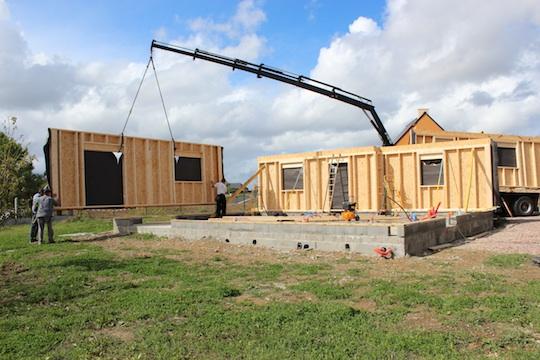 plan maison dome bois