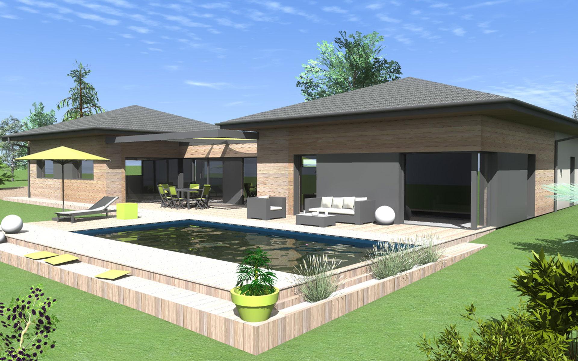 plan maison ossature bois bbc