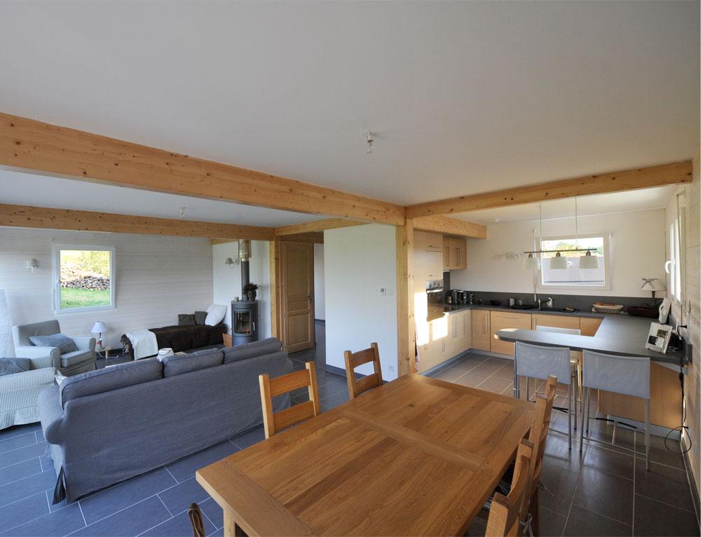 plan interieur maison ossature bois