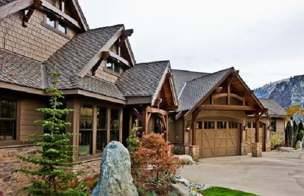 plan maison bois americaine