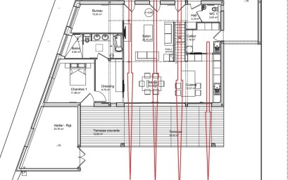 plan de maison 3 chambres