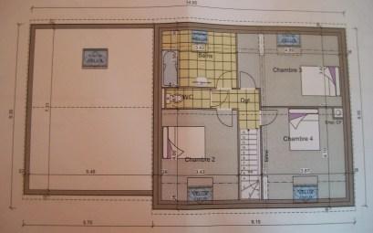plan maison 3 chambres garage
