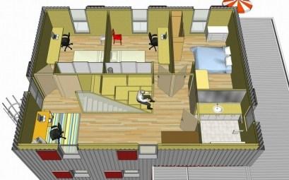 plan de maison 100 m2