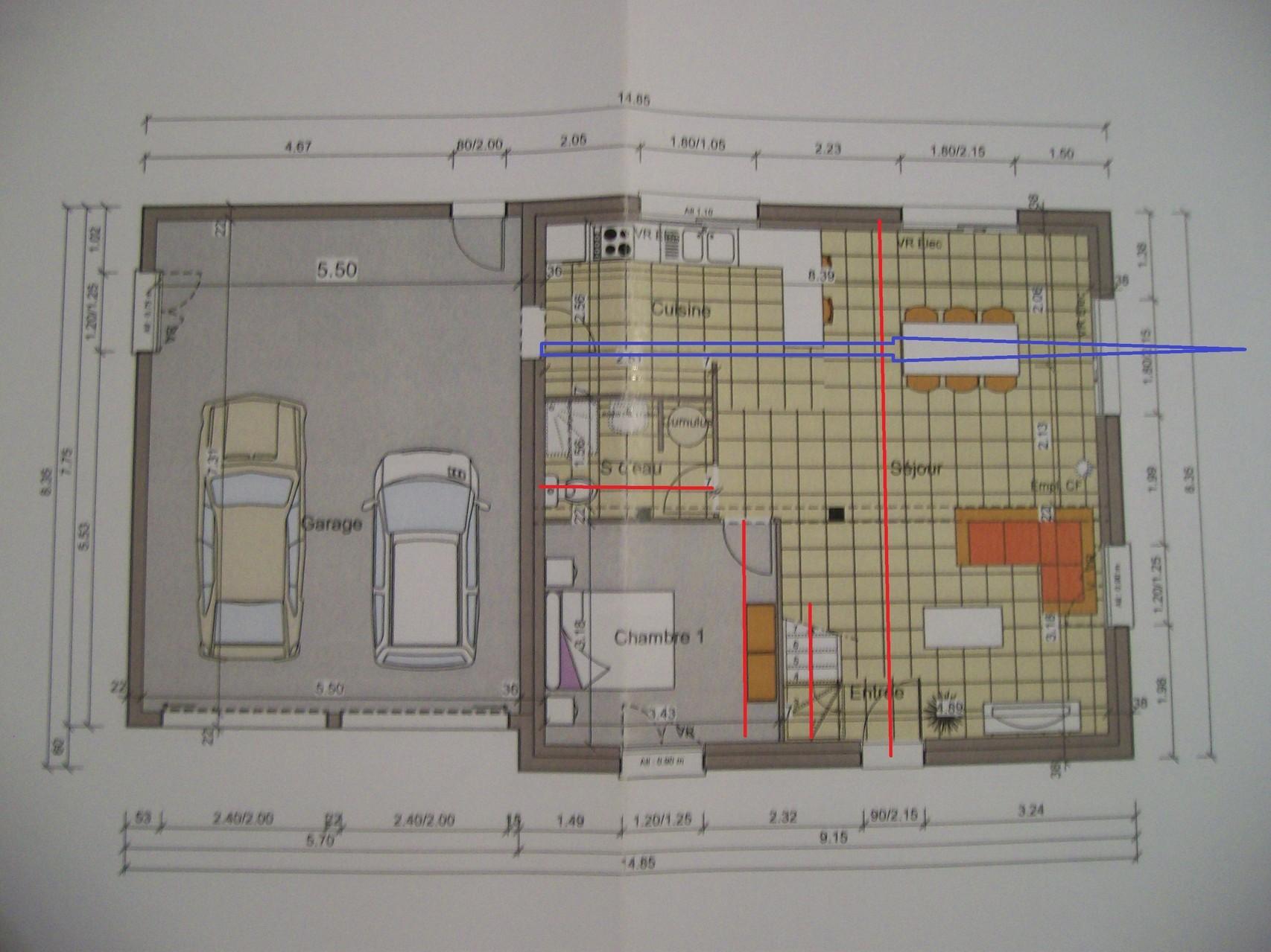 plan maison 100m2 4 chambres