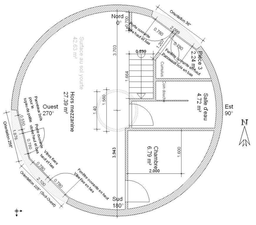 plan de maison de 90m2
