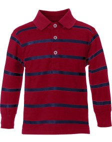 Μπλούζα ριγέ polo style