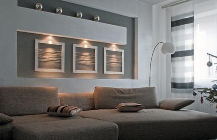 Wohnzimmer design wand  Design Wohnzimmer Design Wand Inspirierende Bilder Von Modernes ...
