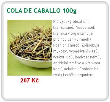 cola de caballo - Cola de Caballo je nabitá křemičitany