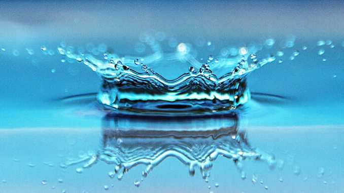 Kapky vody.
